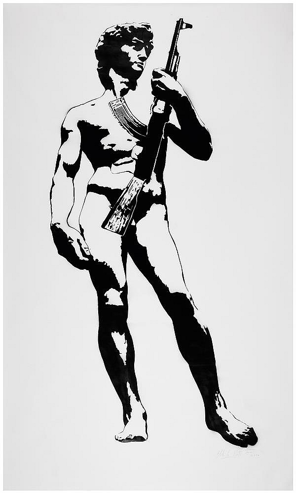 """David"" by Blek le rat"