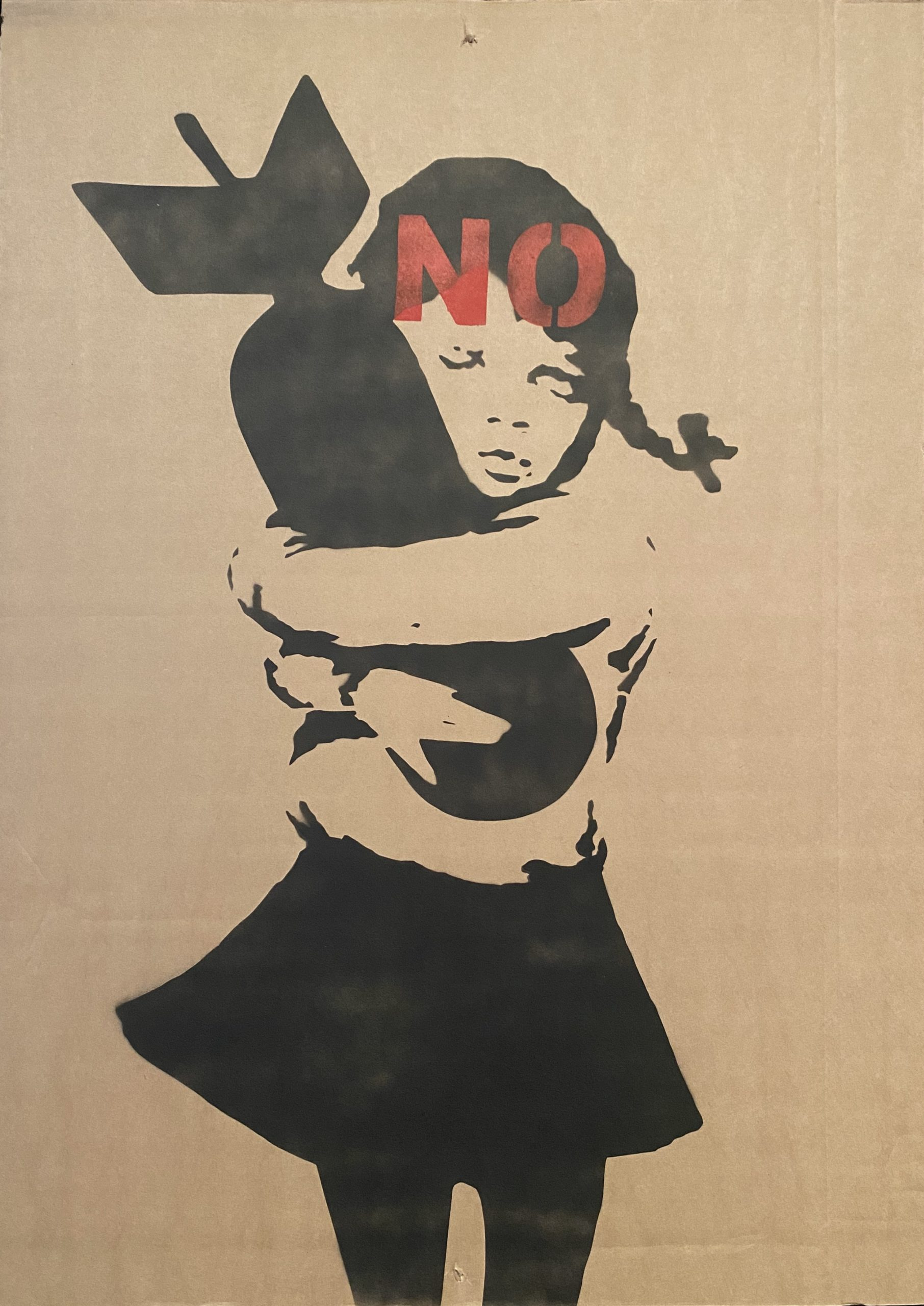 """No War "" by Banksy"